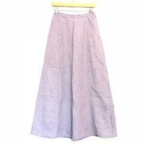 Eileen Fisher Periwinkle 100% Linen Maxi Skirt